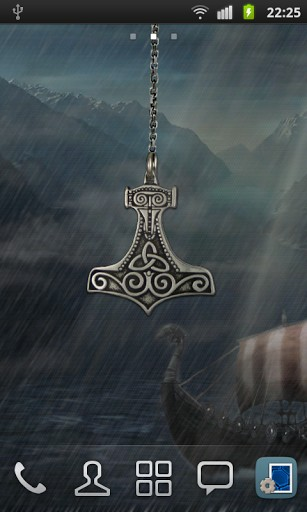 View Bigger Thors Hammer Live Wallpaper For Android Screenshot 307x512
