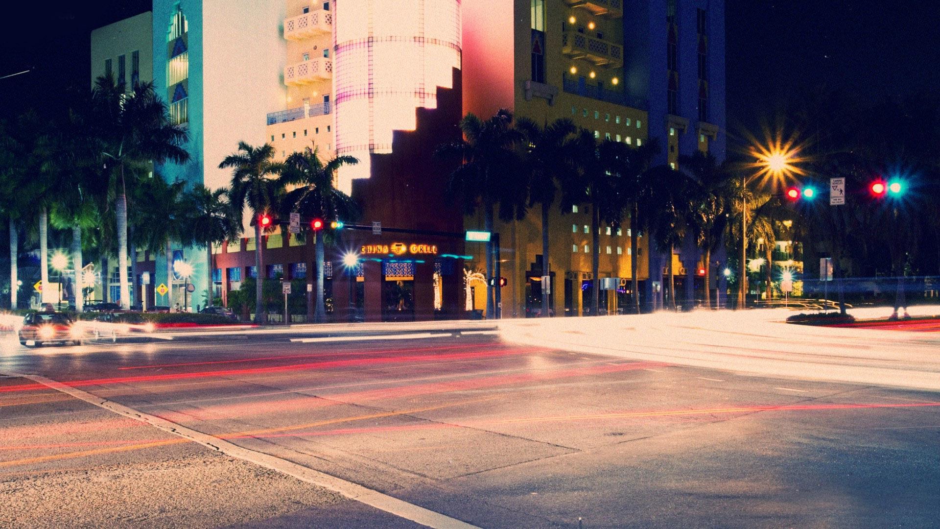 South Beach At Night Wallpaper 11971 1920x1080