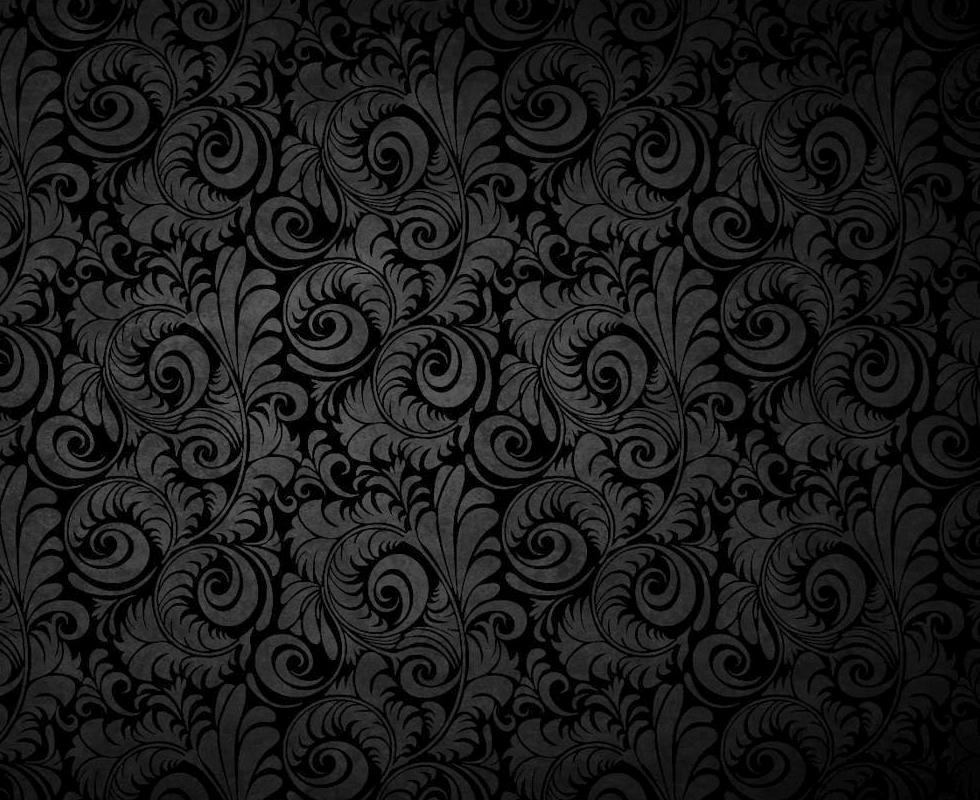 Black Patterns Wallpaper 980x800 Black Patterns Floral 980x800