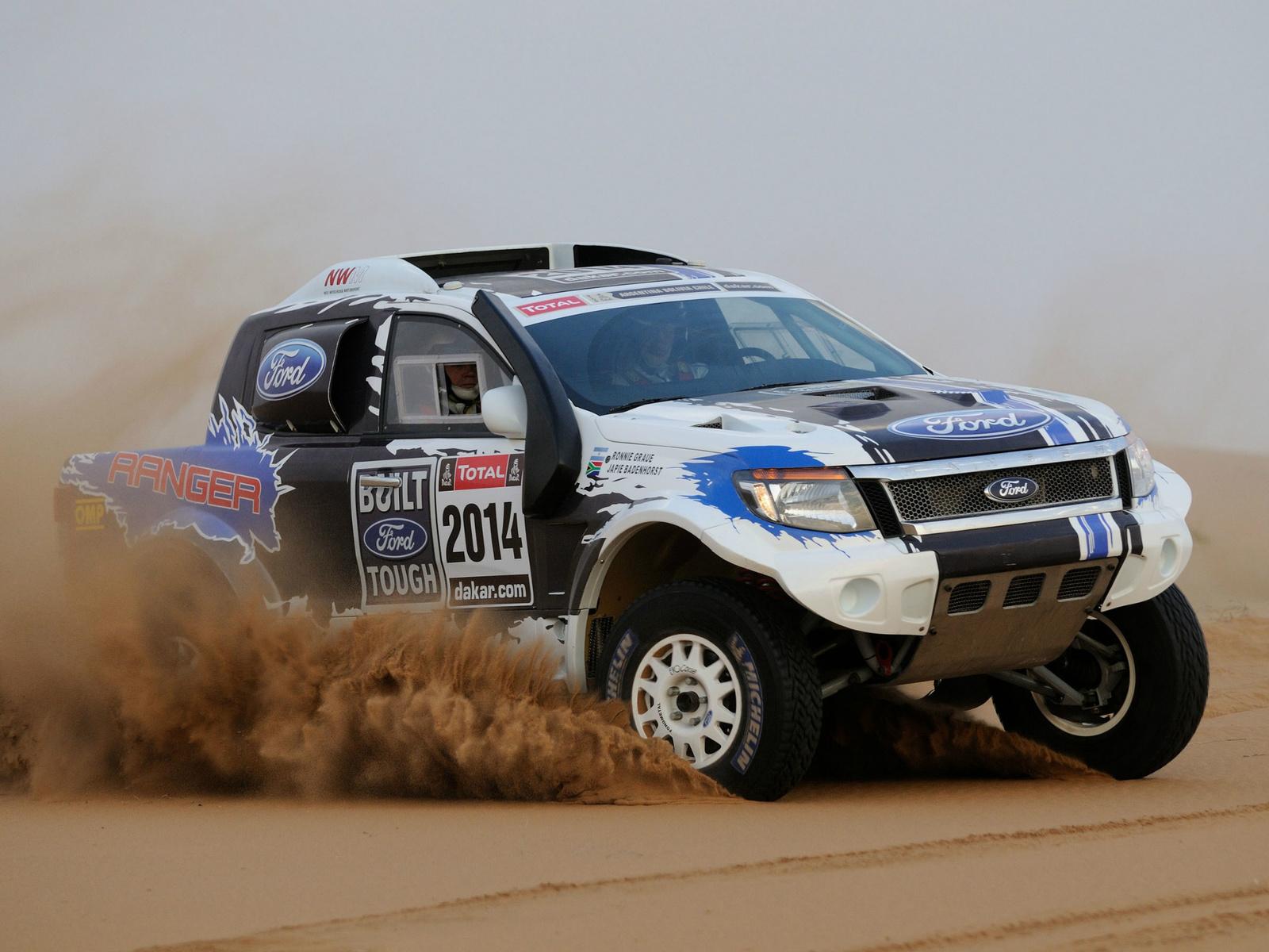 Ford Ranger Dakar Rally offroad pickup 4x4 race racing g wallpaper 1600x1200