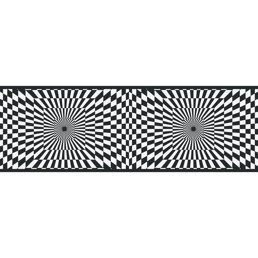 Black And White Funky Optics Prepasted Wallpaper Border at Lowescom 900x900