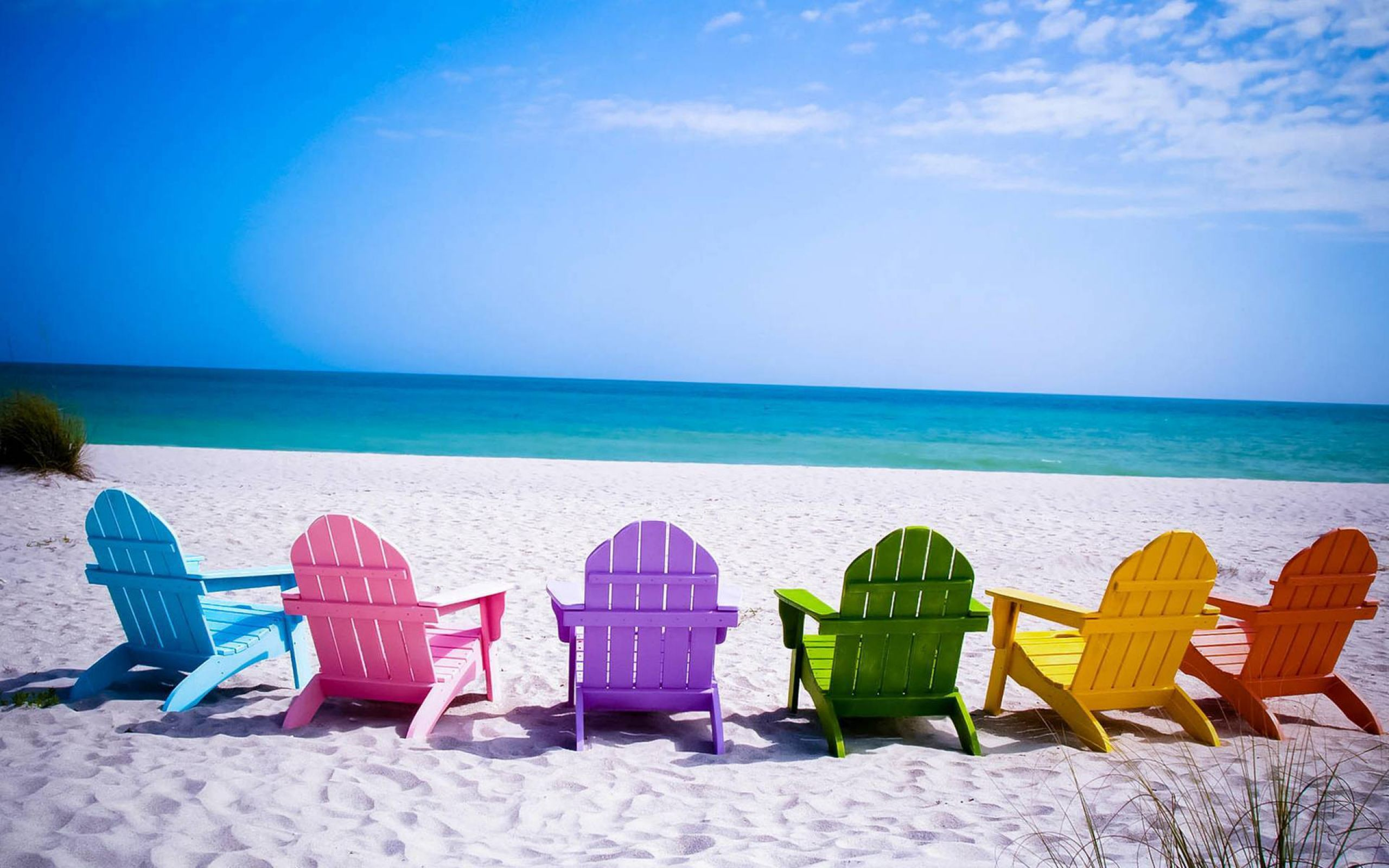 Summer Beach Chairs HD Wallpaper For Desktop Mobile 2560x1600