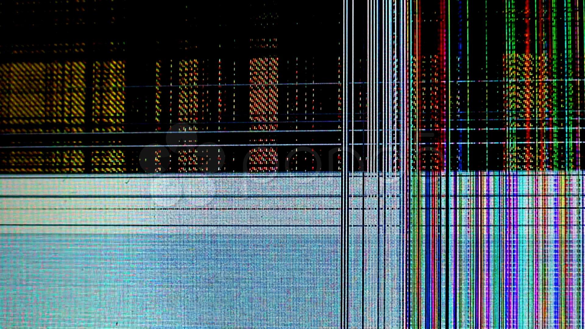 Broken Cracked Lcd Screen Stock Video 591901 HD Footage 1920x1080