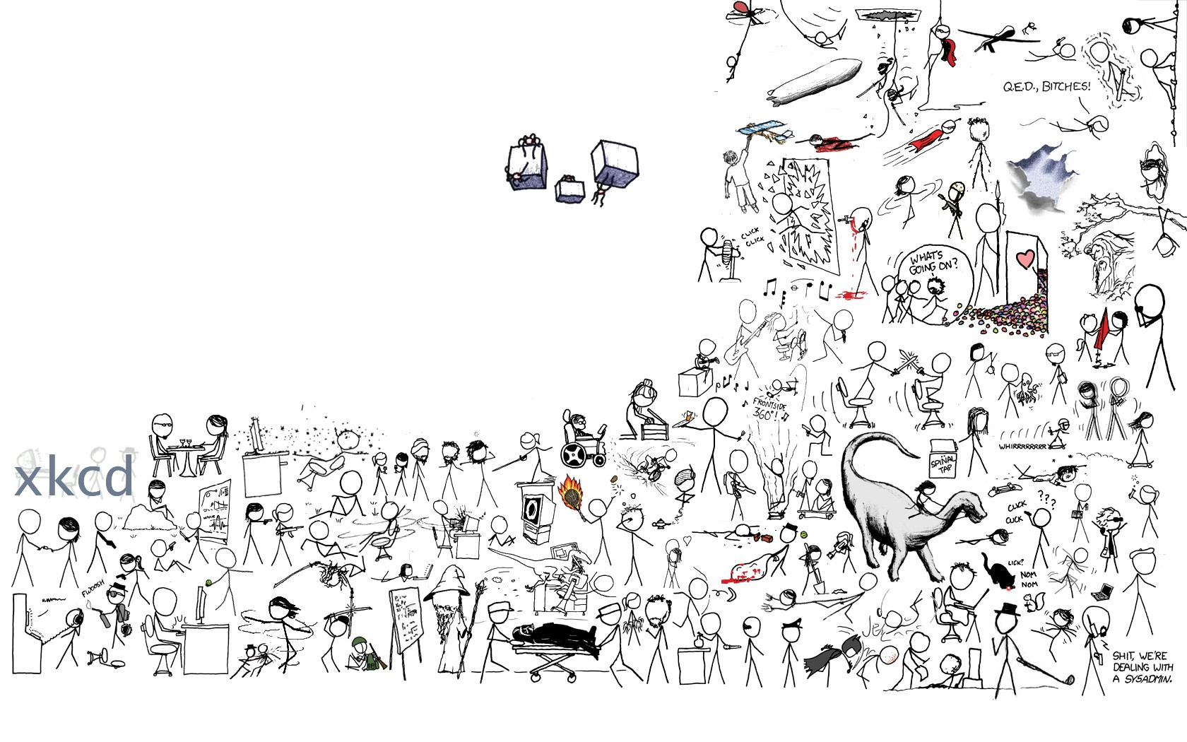 My friend made this cool XKCD wallpaper What do you think pics 1680x1050