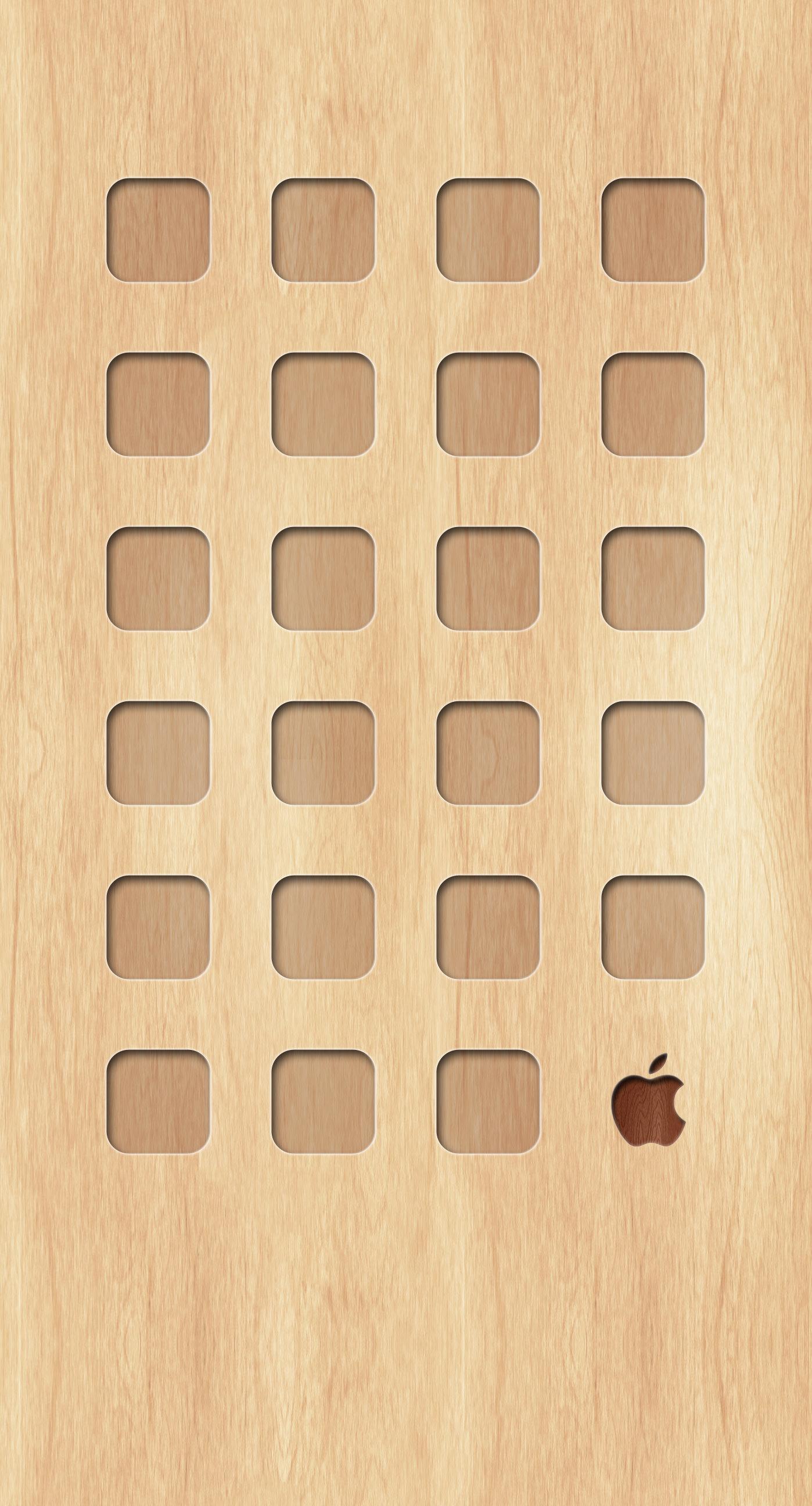 Shelf Wood plate tea yellow Apple logo wallpapersc iPhone7Plus 1398x2592