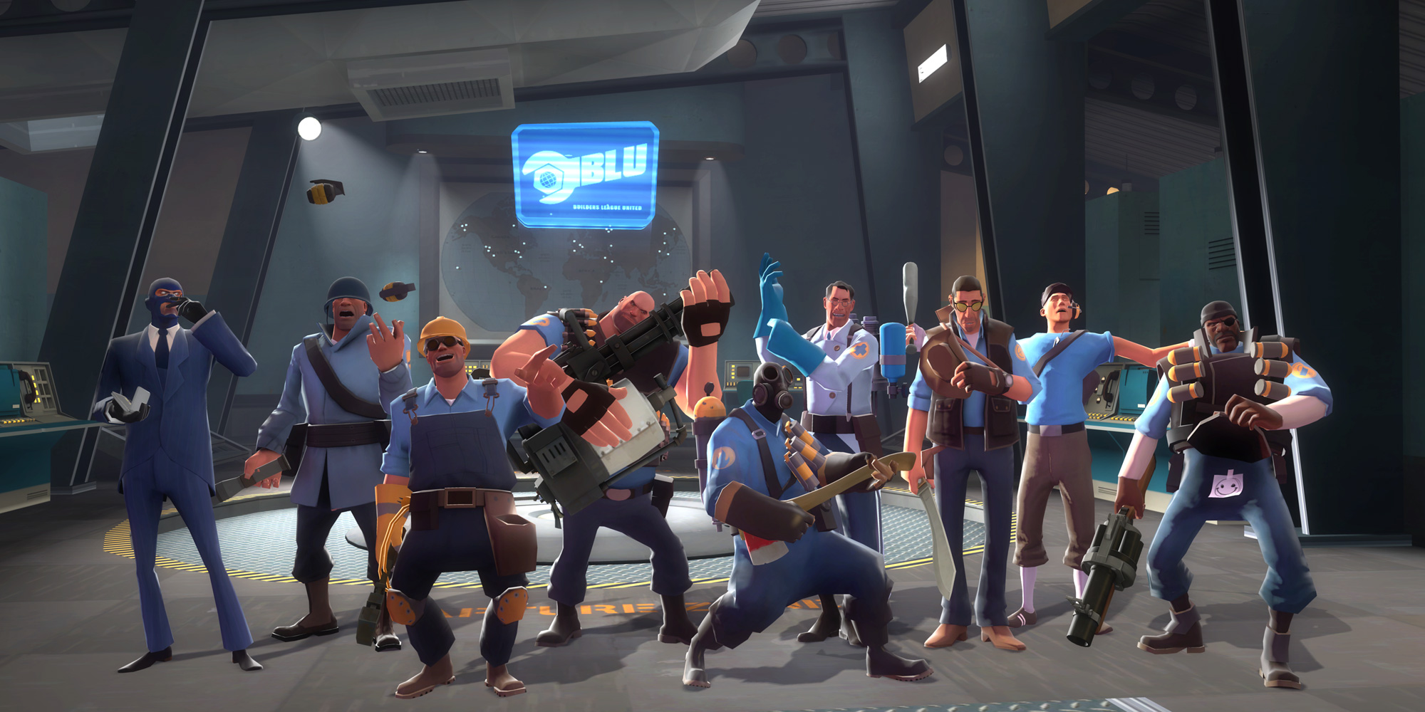 Team Fortress 2 Group Wallpaper 2000 x 1000 Press Start To 2000x1000