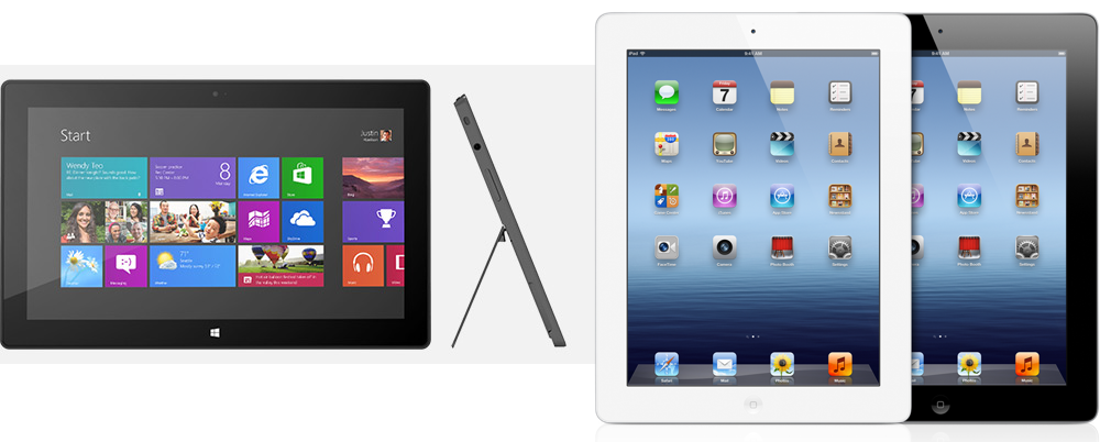 Windows RT vs apple iPad 3   Everything about PowerPoint Wallpapers 1000x402