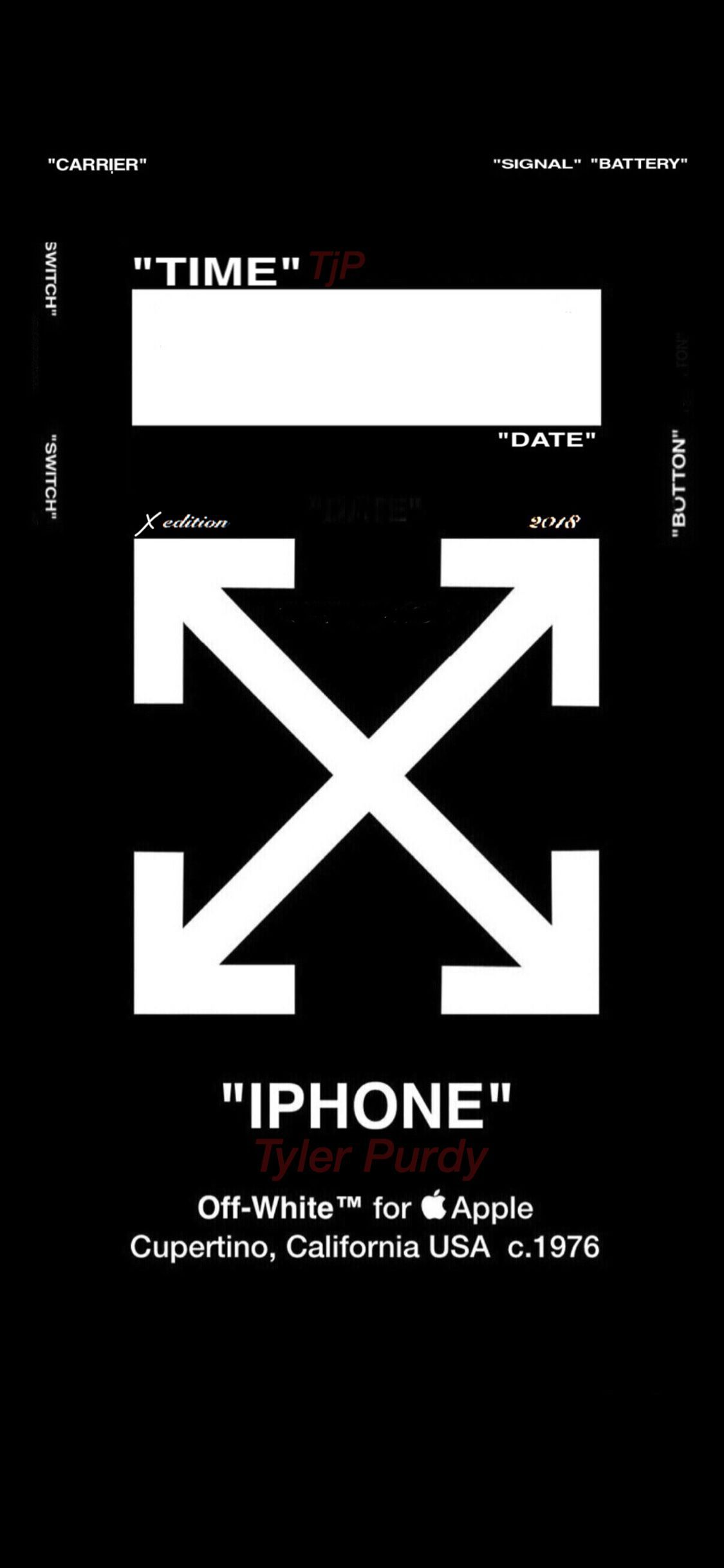 Off White Lock Screen Cool Designer Brand Wallpapers Iphone 1125x2436