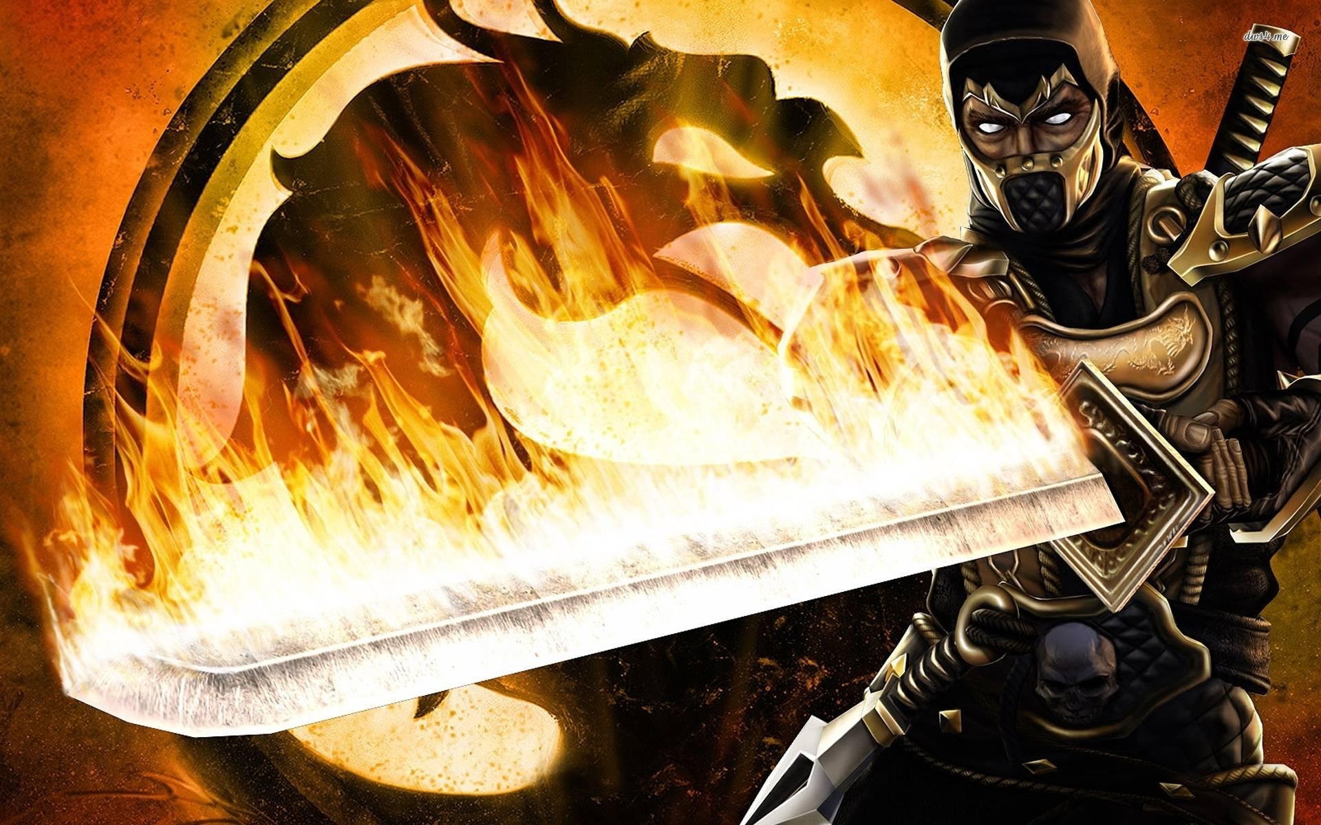 Mortal Kombat Wallpaper Scorpion 1920x1200