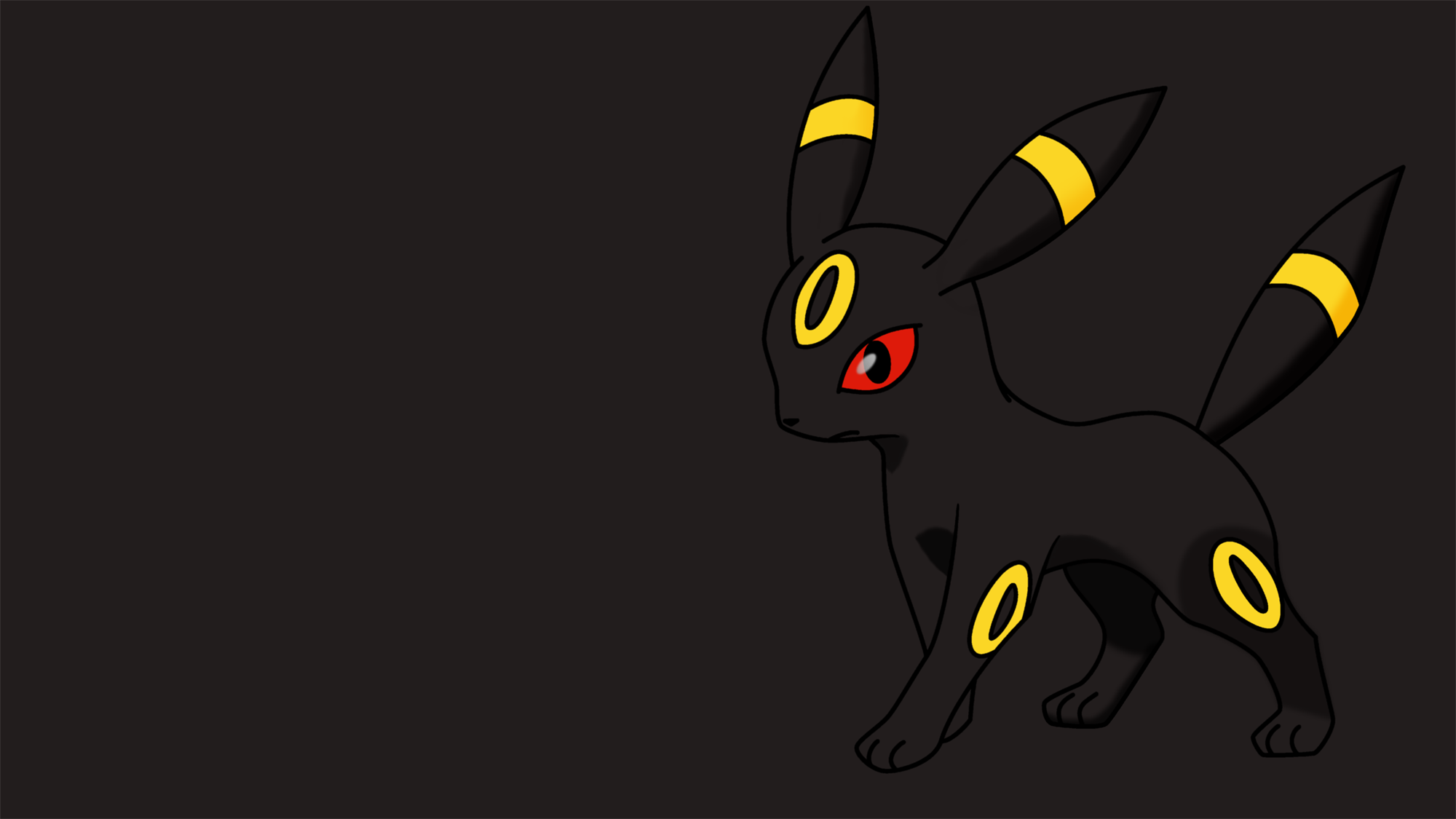 Umbreon Wallpaper by AlexanderOlson 2000x1125