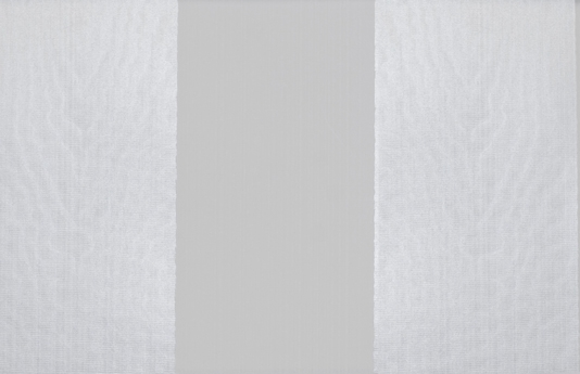 Silver moire striped wallpaper Wide stripe grey and silver wallpaper 534x345