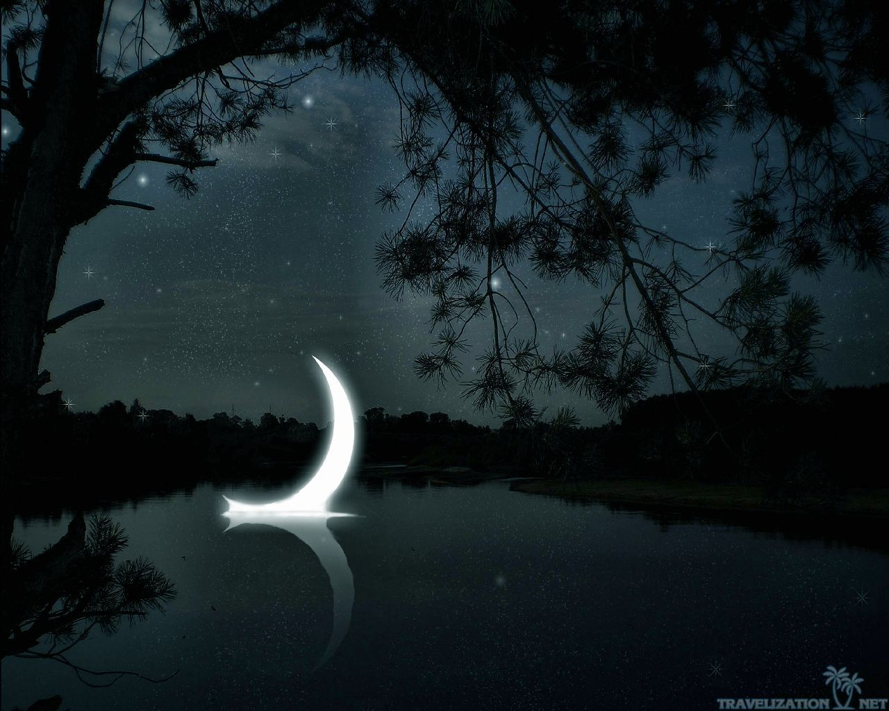 Crescent Moon Wallpaper 3853 Hd Wallpapers In Space Imagescicom 1280x1024