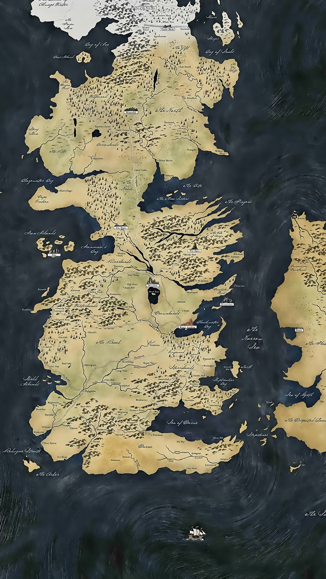 Map Game of Thrones iPhone 5s Wallpaper Download iPhone Wallpapers 640x1136