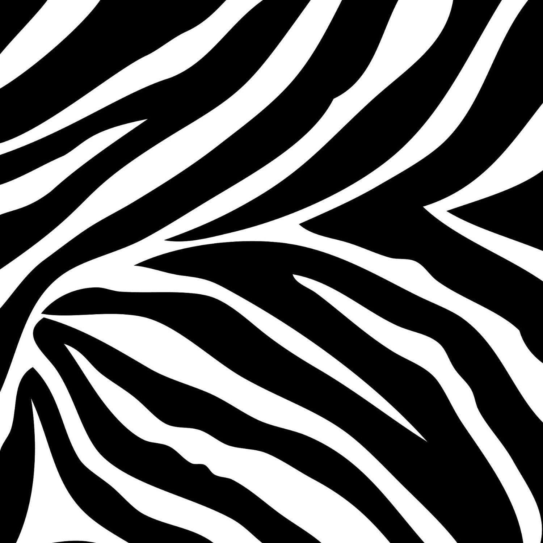 Black and White Zebra Print Wall Border Wallpaper Border 1500x1500