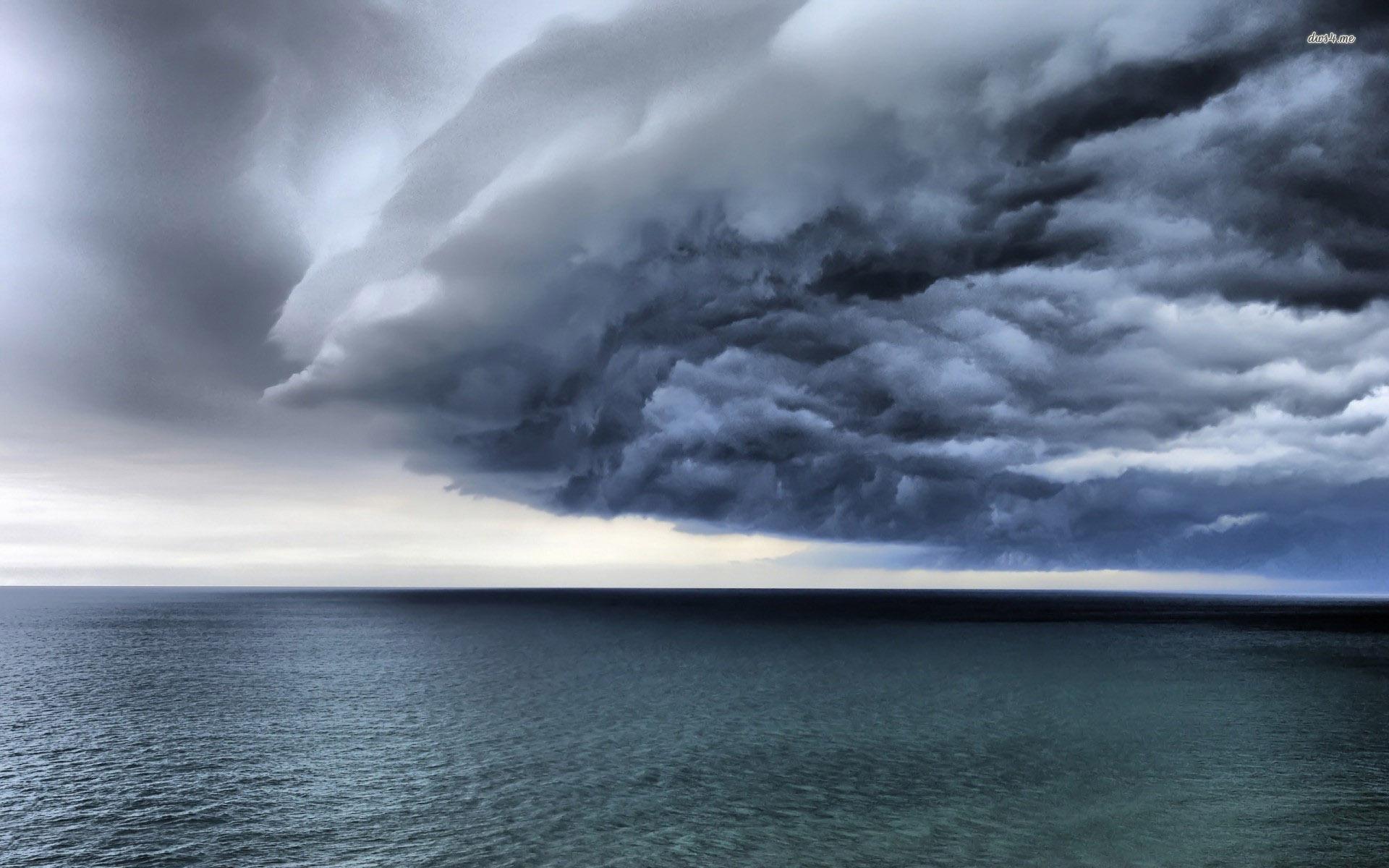 Storm clouds over the ocean wallpaper   Beach wallpapers   10506 1920x1200