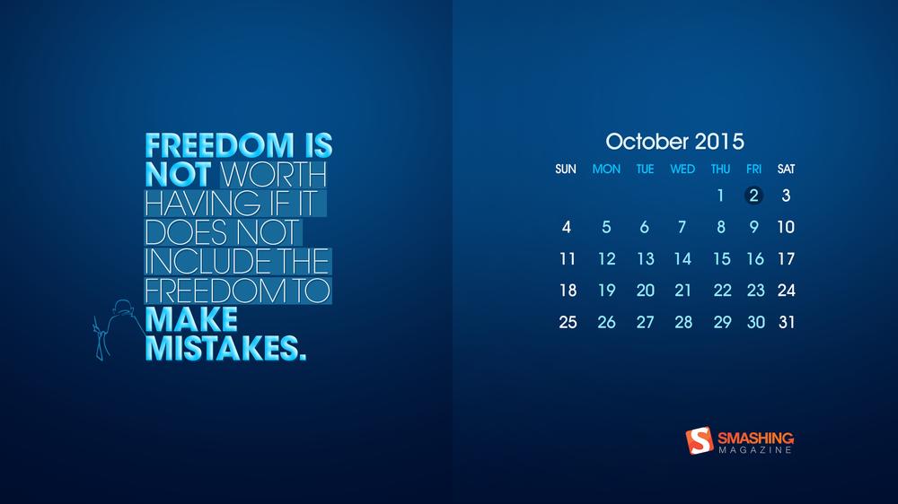 Magazine Desktop Wallpaper Calendar October 2015 Windows 7810 Theme 1000x562