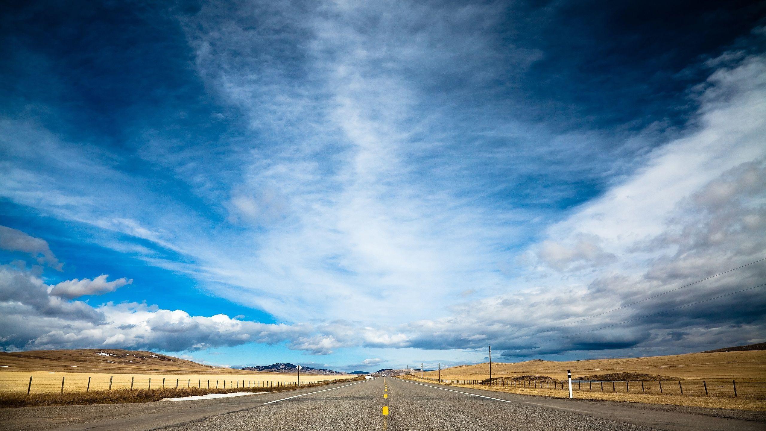 Wallpaper road 4k HD wallpaper clouds day sky dream Nature 127 2560x1440