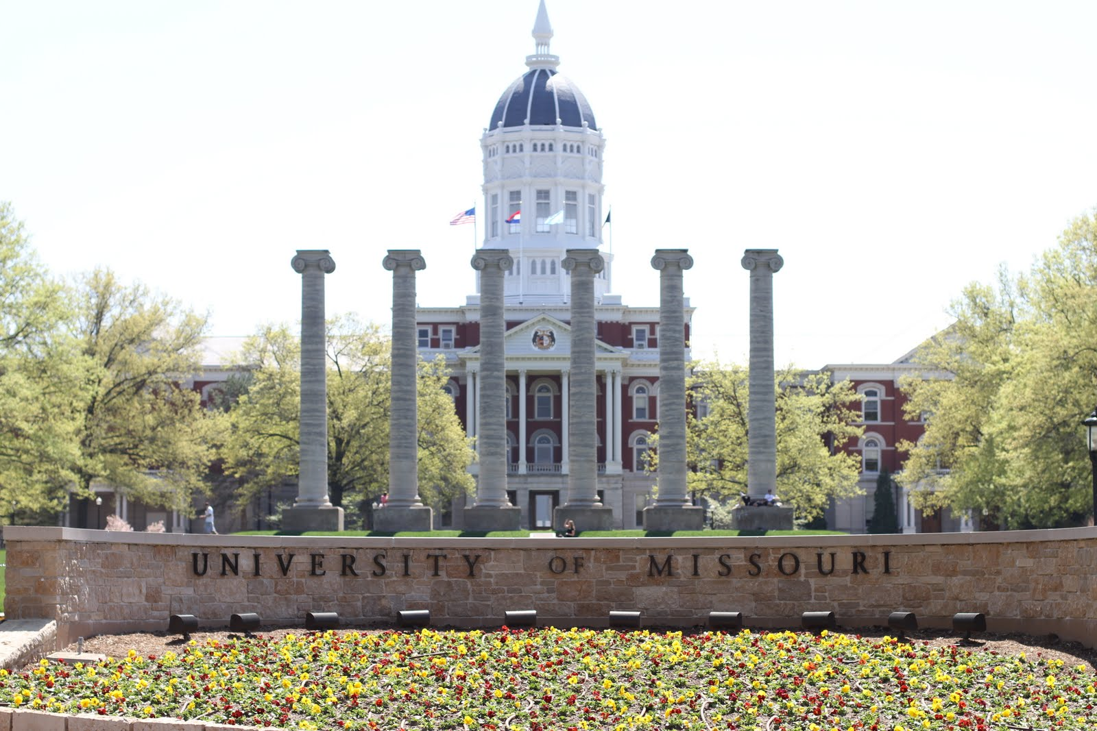 the traditional symbol of the university of missouri is the row of six 1600x1067