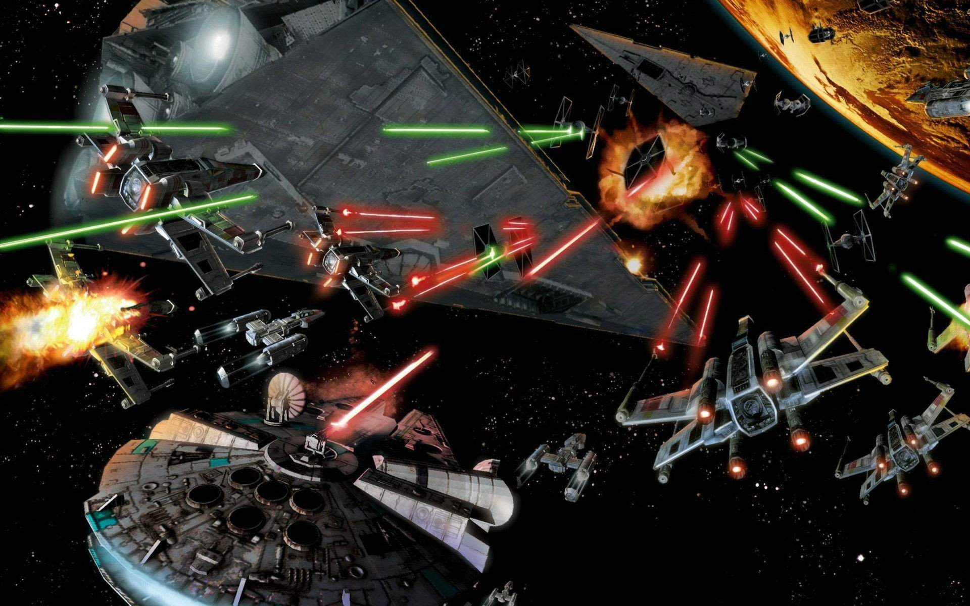 Star Wars Space Battle Wallpaper 61 images 1920x1200
