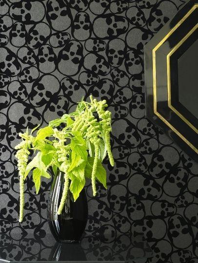 Skull Wallpaper House and garden Pinterest 406x540