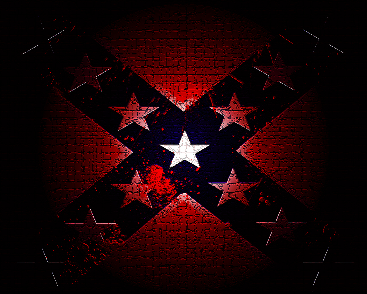 Bloody Confederate Flag by D3uterium 1280x1024