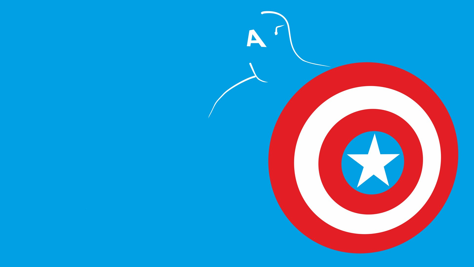Captain America Shield Blue Minimal Marvel wallpaper 1920x1080 1920x1080