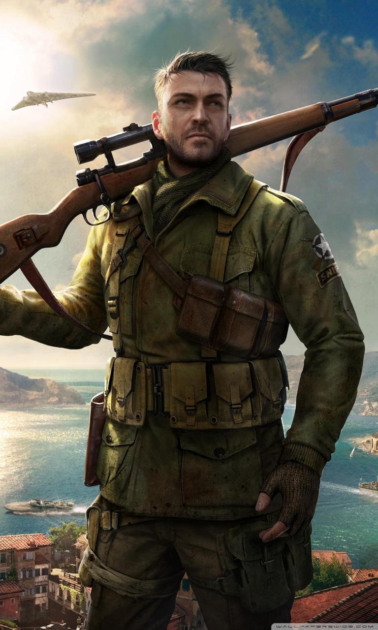 Sniper Elite 4 Game 4k 4K HD Desktop Wallpaper for 4K Ultra HD 768x1280