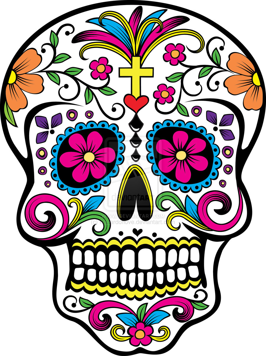 Sugar Skull Wallpaper Colorful sugar 900x1202