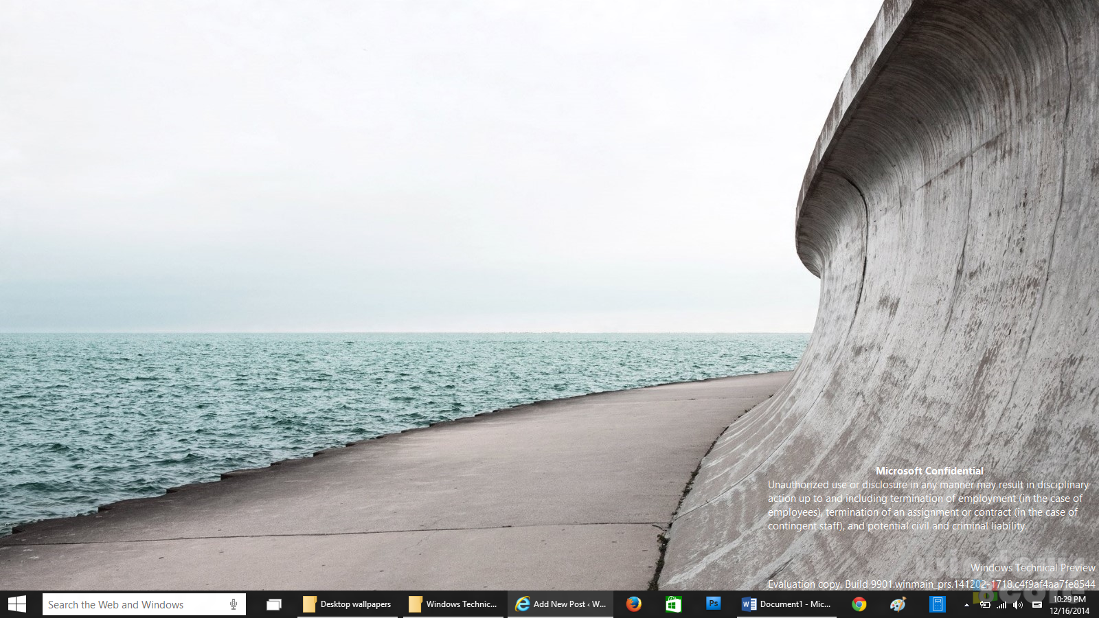 new desktop HD wallpapers from Windows 10 Consumer Preview build 9901 1600x900