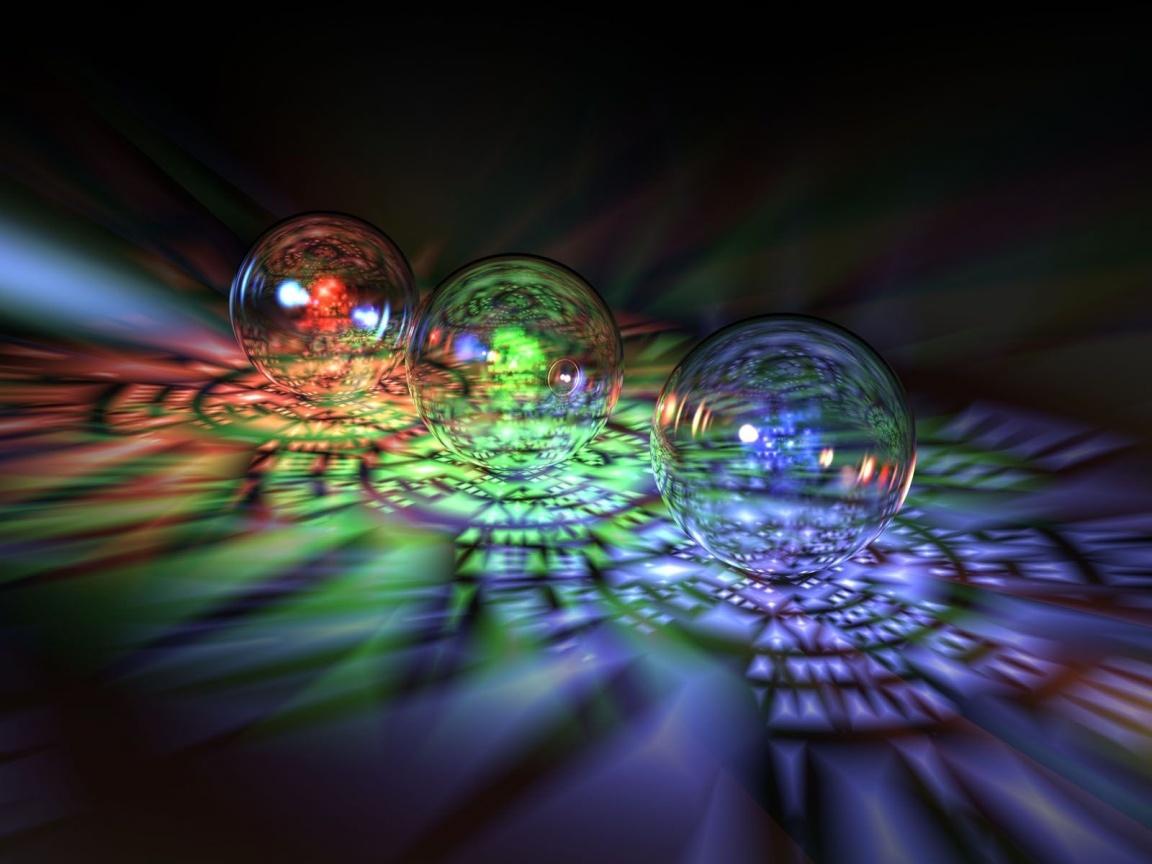 3D Bubbles Wallpaper 1152x864