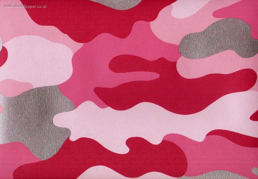 camouflage wallpaper pink wallpaper 10metres x 52cm pattern repeat 834x580