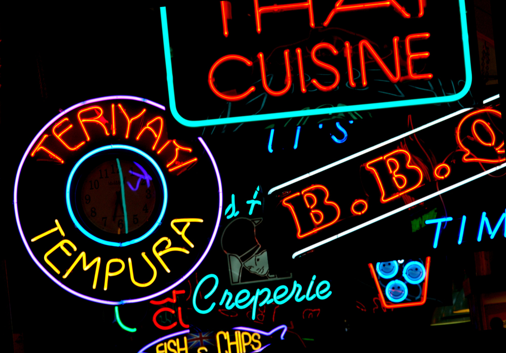neon signs wallpaper wallpapersafariinternational food court neon sign wall mural ohpopsi wallpaper 1000x698