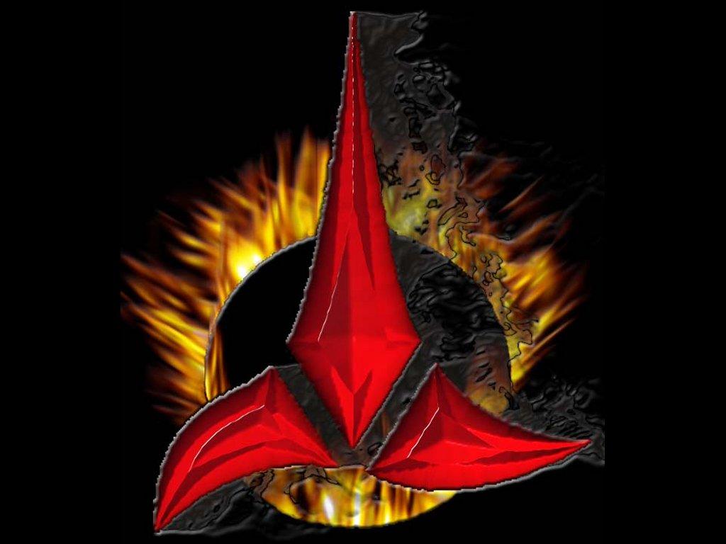 Klingon Symbol Wallpaper Klingon logo by omegadjin 1024x768