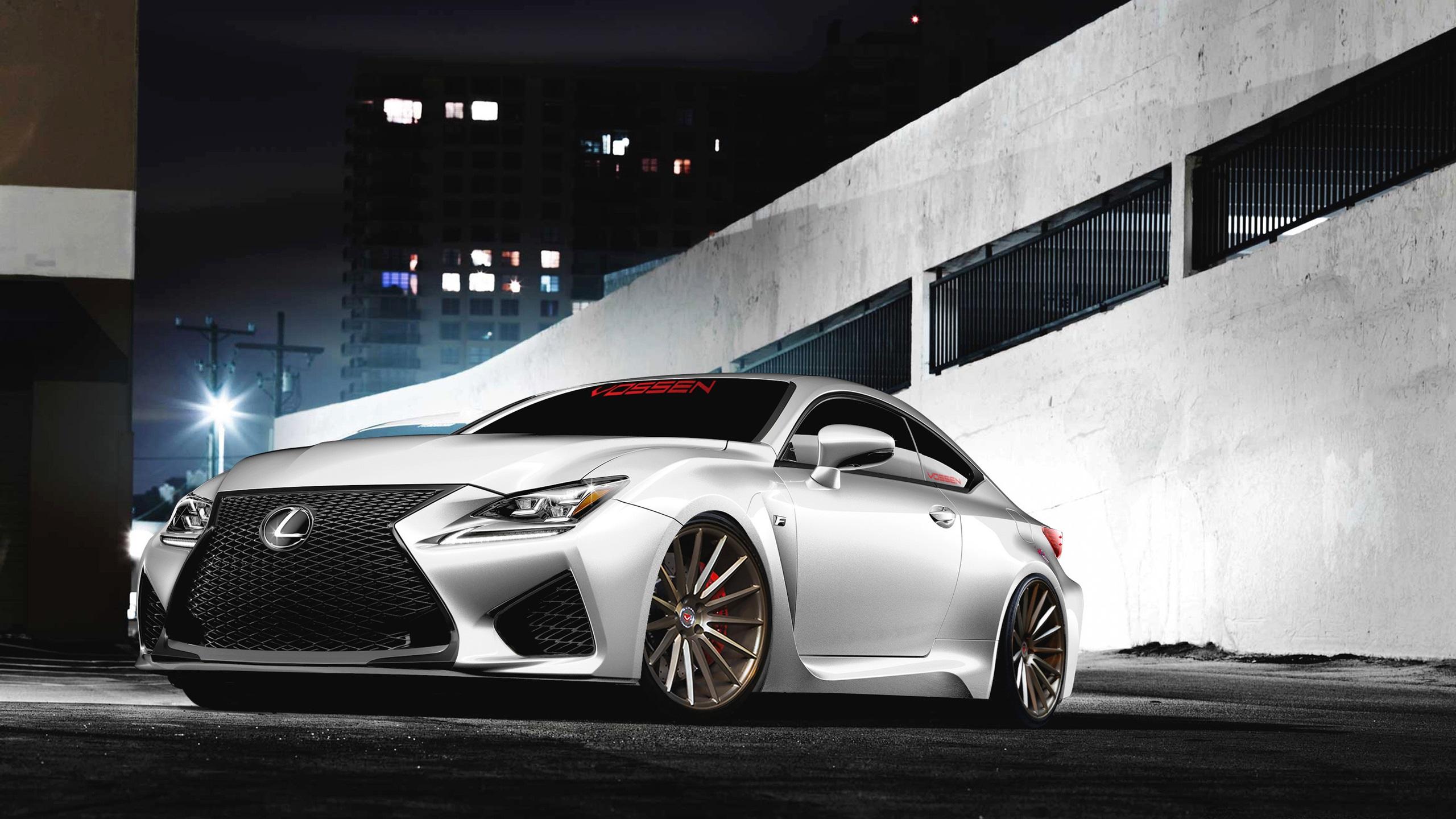 Lexus RC F voiture blanche vue de face Fonds dcran 2560x1440 2560x1440