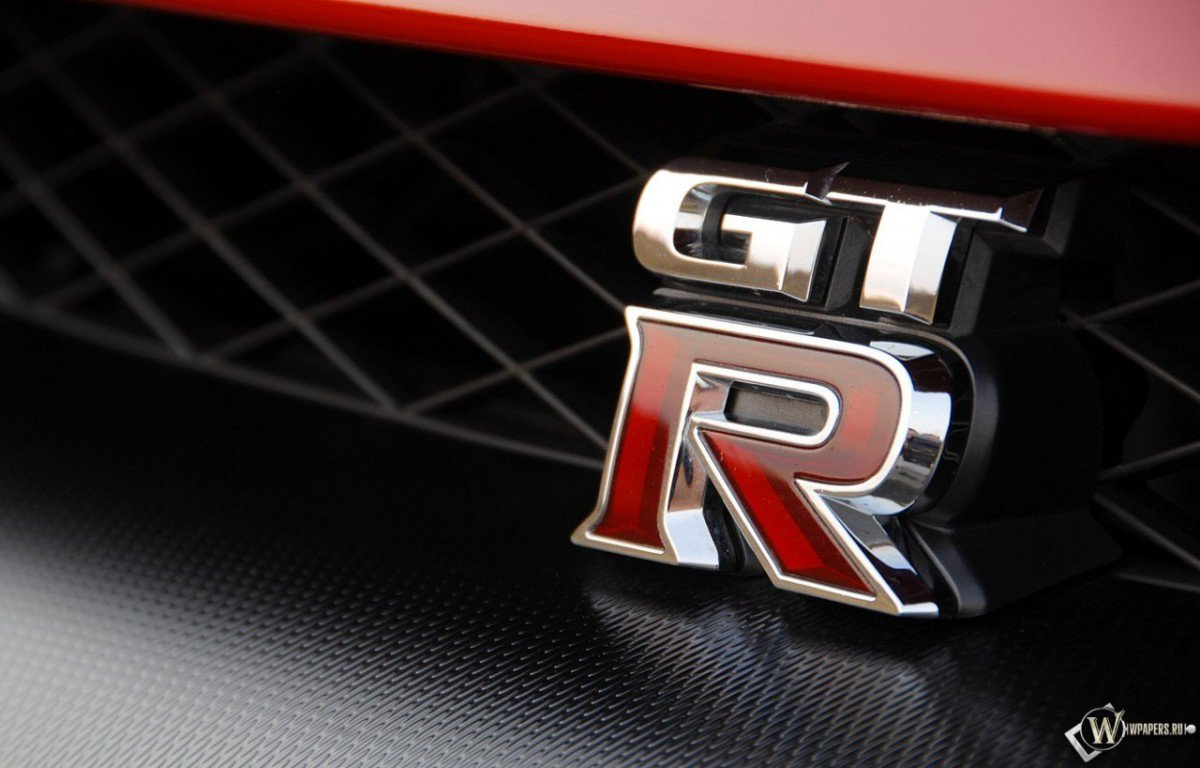 Nissan GT R logo wallpaper 1200x768