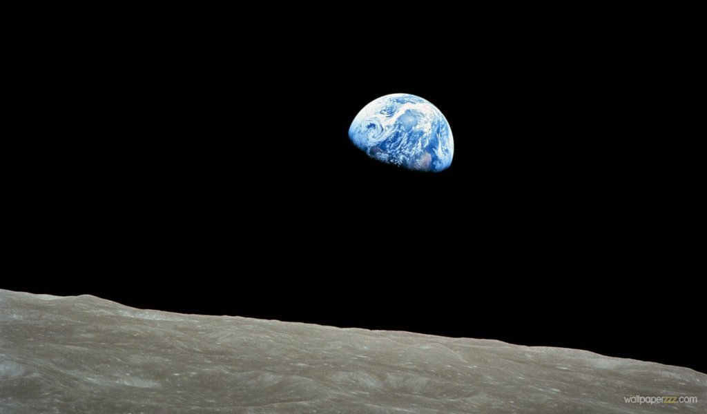 Download Earth From Moon Widescreen Wallpaper Wallpaper 1024x600