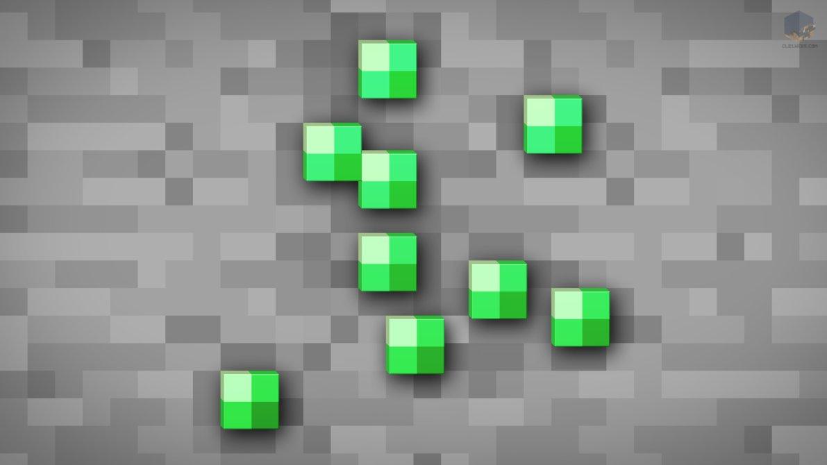 MineCraft Shaded Emerald Ore Wallpaper by ChrisL21 1191x670