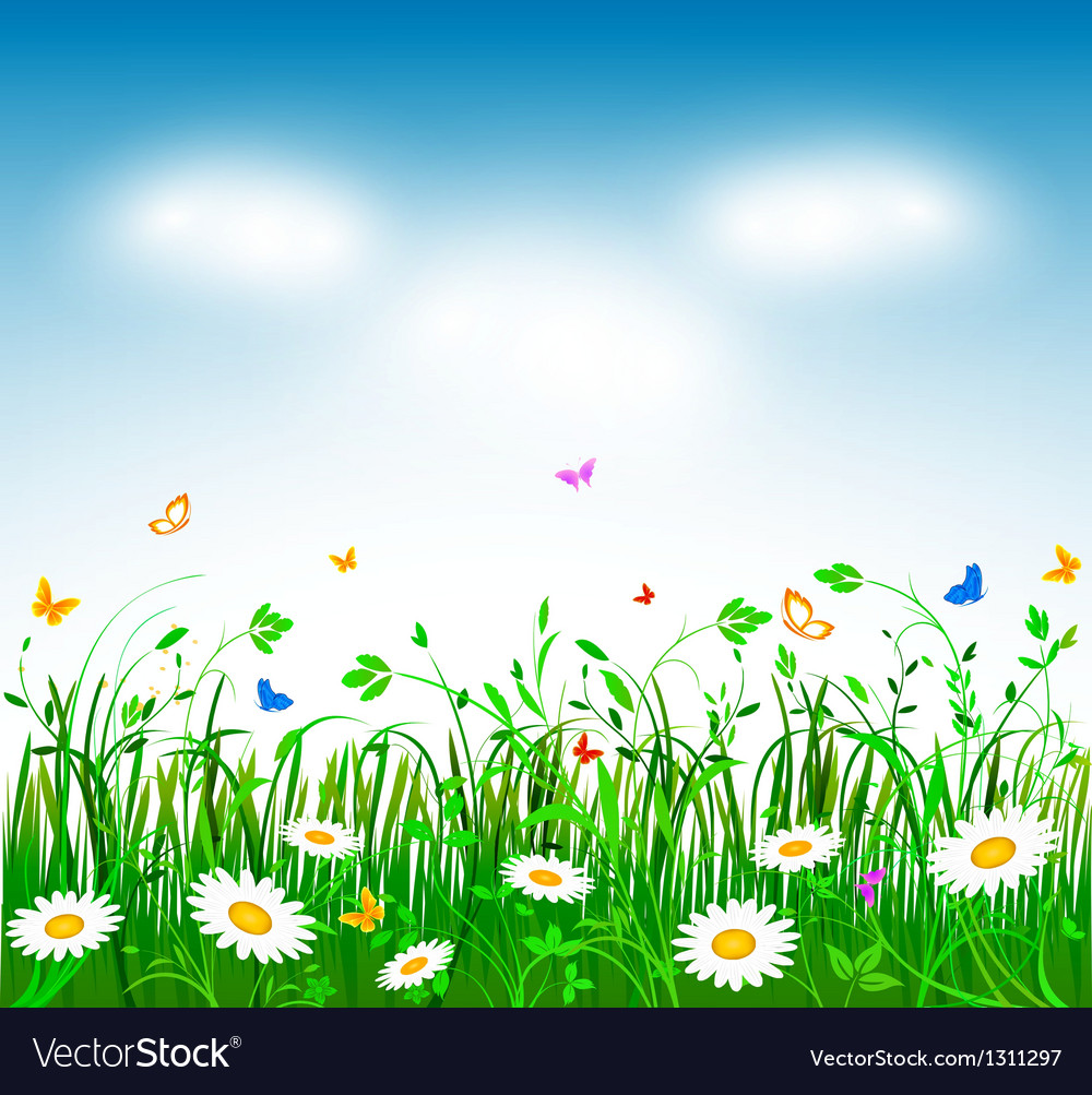 Spring background Royalty Vector Image   VectorStock 1000x1003