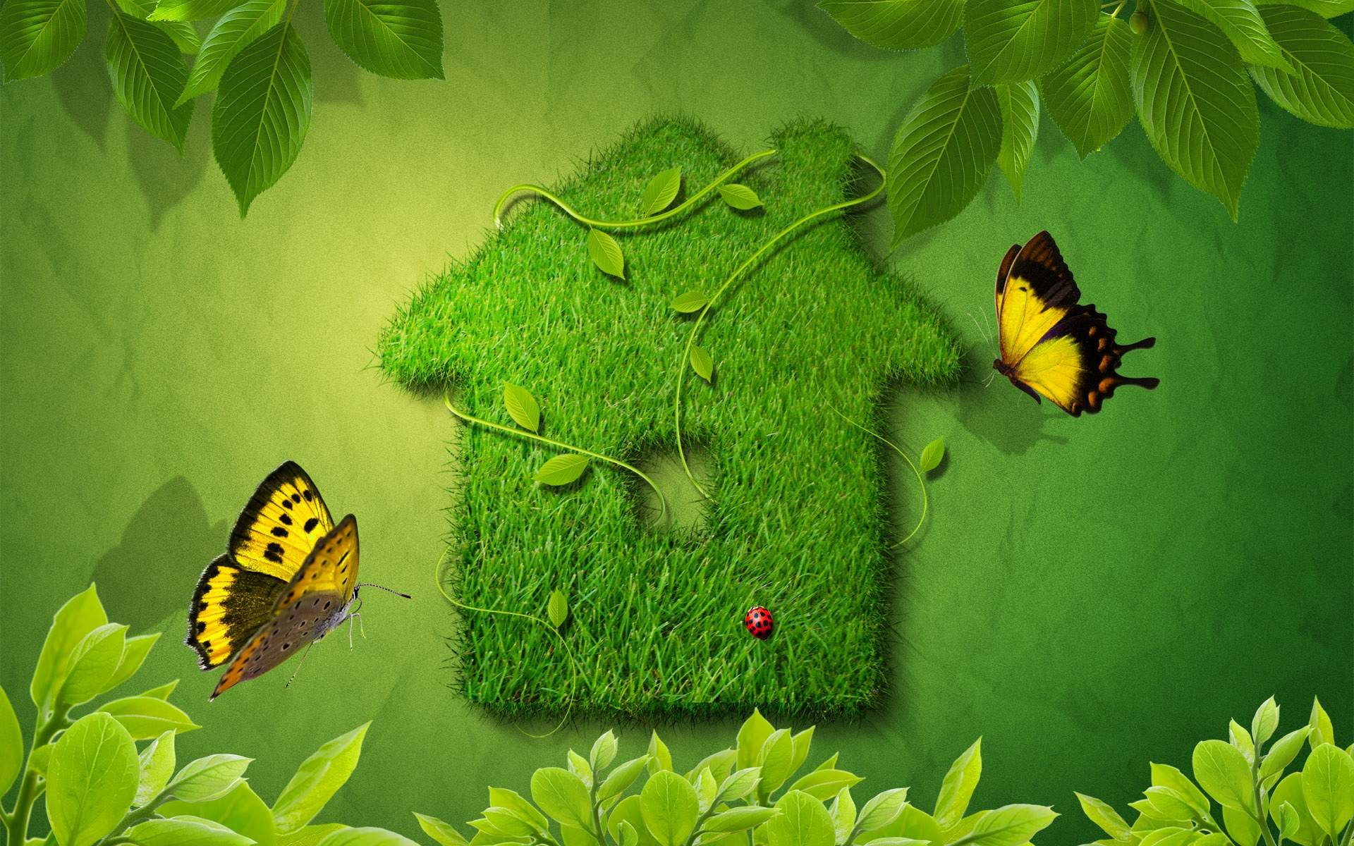 Design Green House Nature Wallpapers For Desktop Backgrounds HD 1920x1200