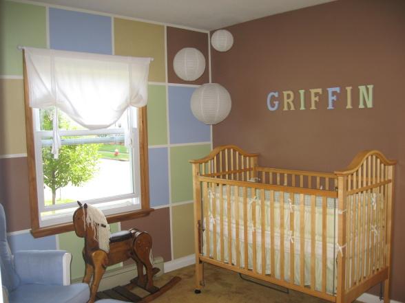 Baby boy nursery wallpaper - Baby boy room - Gorgeous Nursery WALL ...