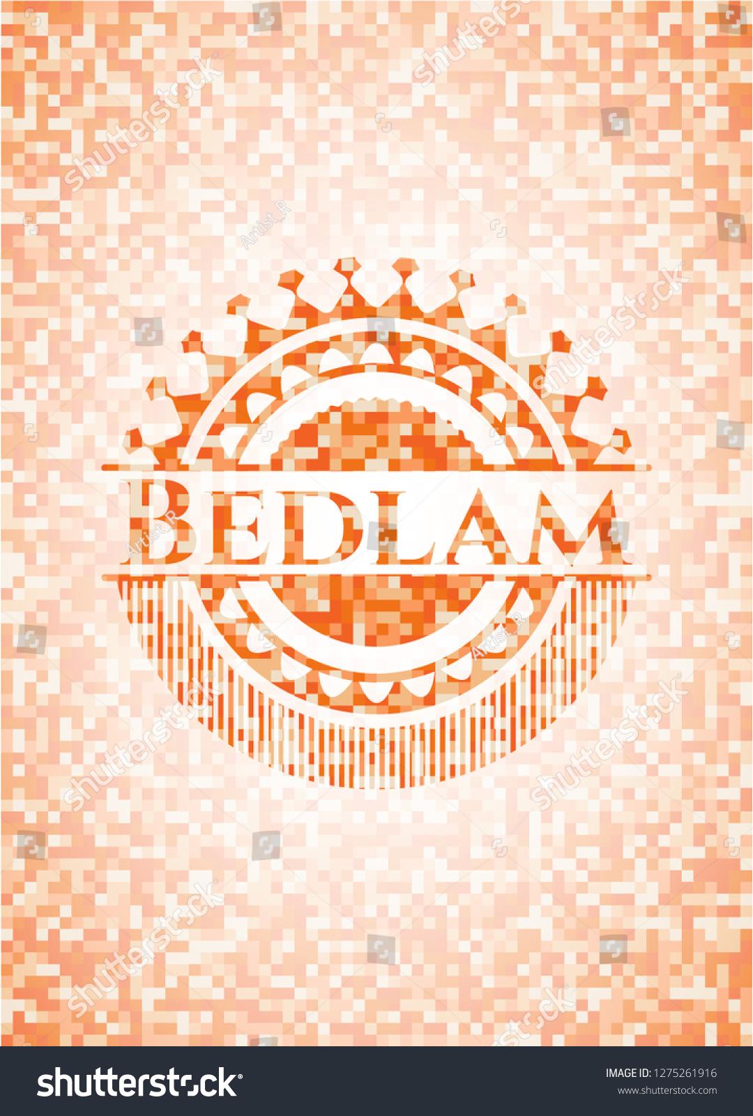 Bedlam Orange Mosaic Emblem Background Stock Vector Royalty 1080x1600