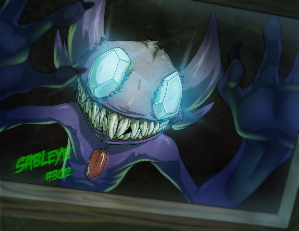 13 ghost of pokemon   SABLEYE by AstroZerk 1017x786