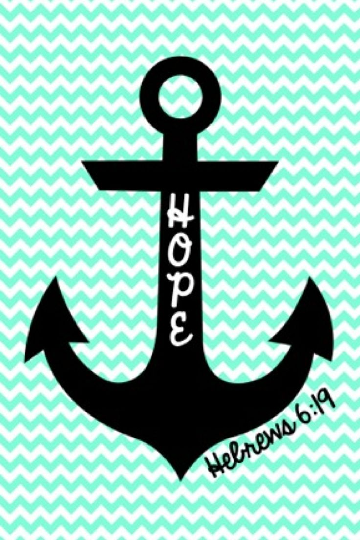 Cute anchor on chevron wallpaper 736x1104