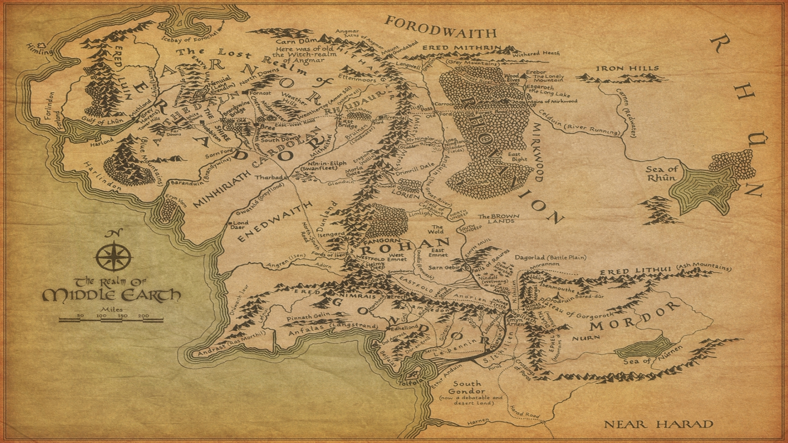 lord of the rings maps middleearth 1920x1080 wallpaper Best Wallpapers 2560x1440