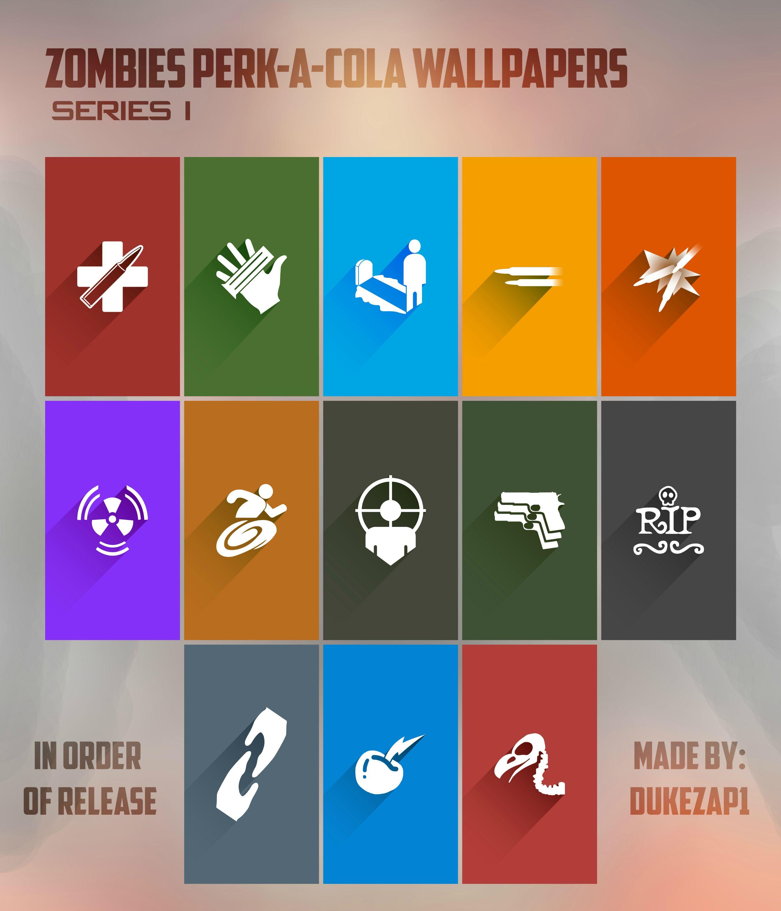 Zombies Perk a cola Mobile Wallpapers Minimalism Design blackops3 2700x3150