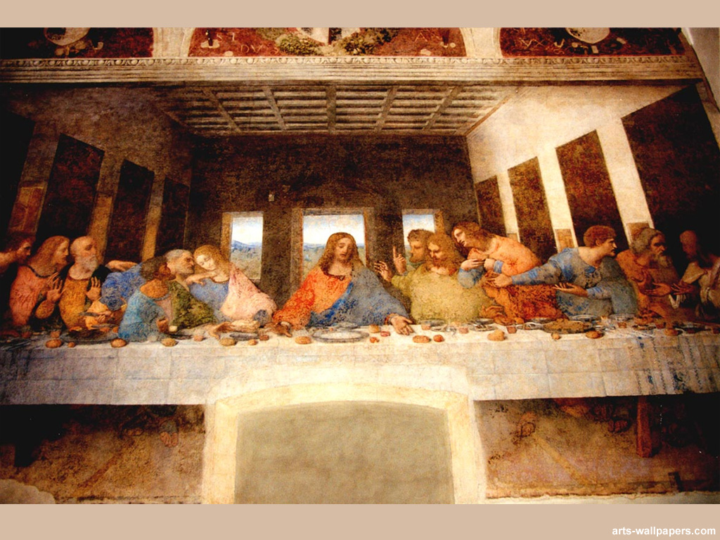 The Last Supper Wallpaper Print Art Wallpaper Wall Tapestry 1024x768