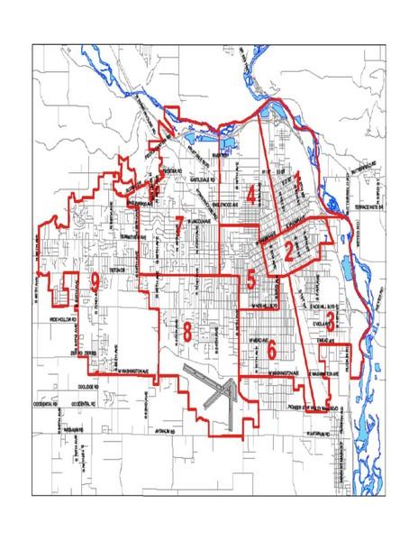 Yakima Washington City Map   Yakima WAshington State Mappery 464x600