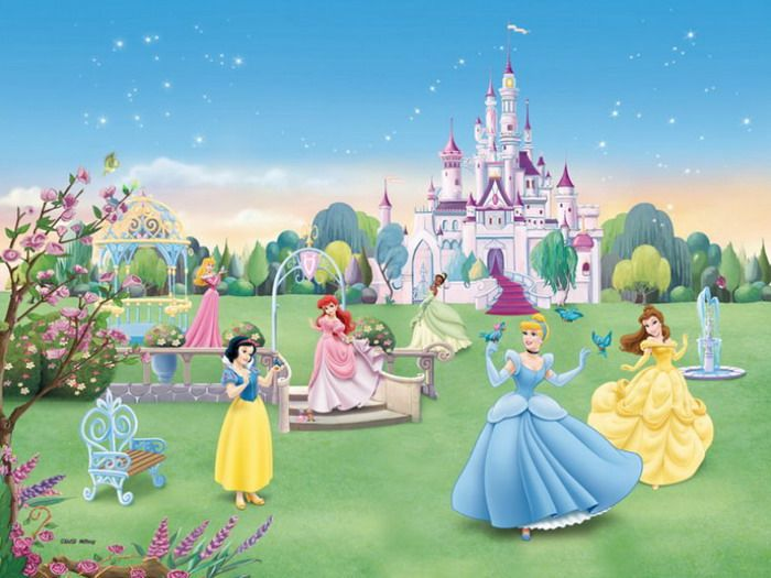 Princesses Wall Murals Wallpapers Disney Bedrooms Disney Princesses 700x525