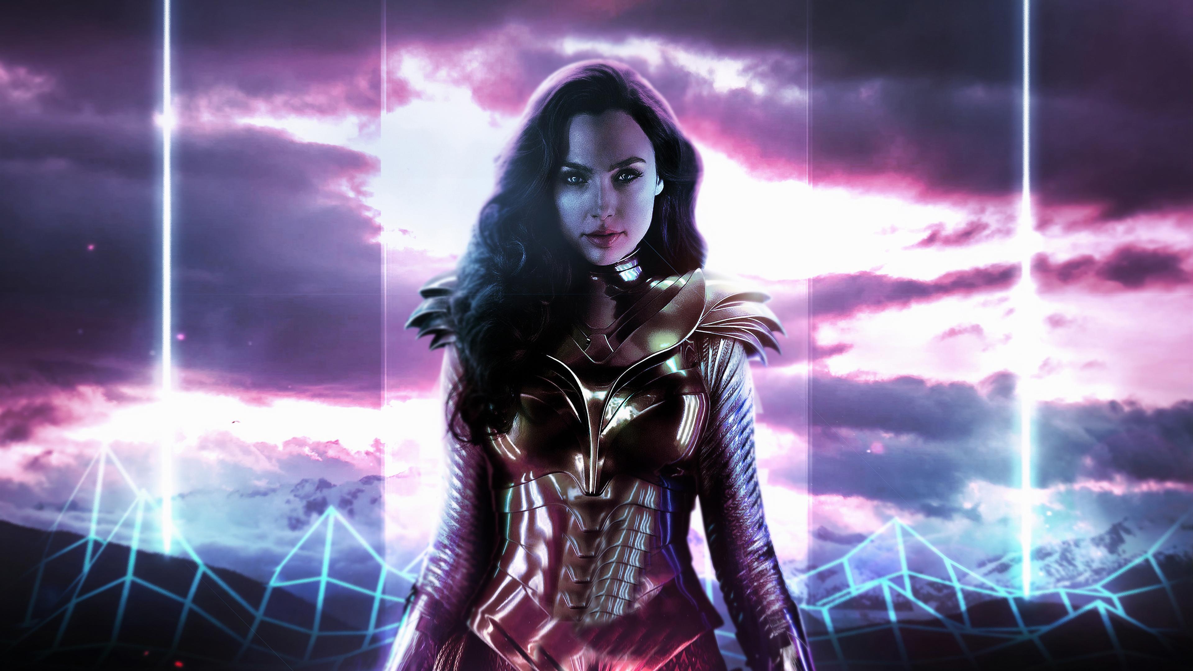 Wallpaper 4k Wonder Woman 1984 Movie Neon 2020 movies wallpapers 3840x2160