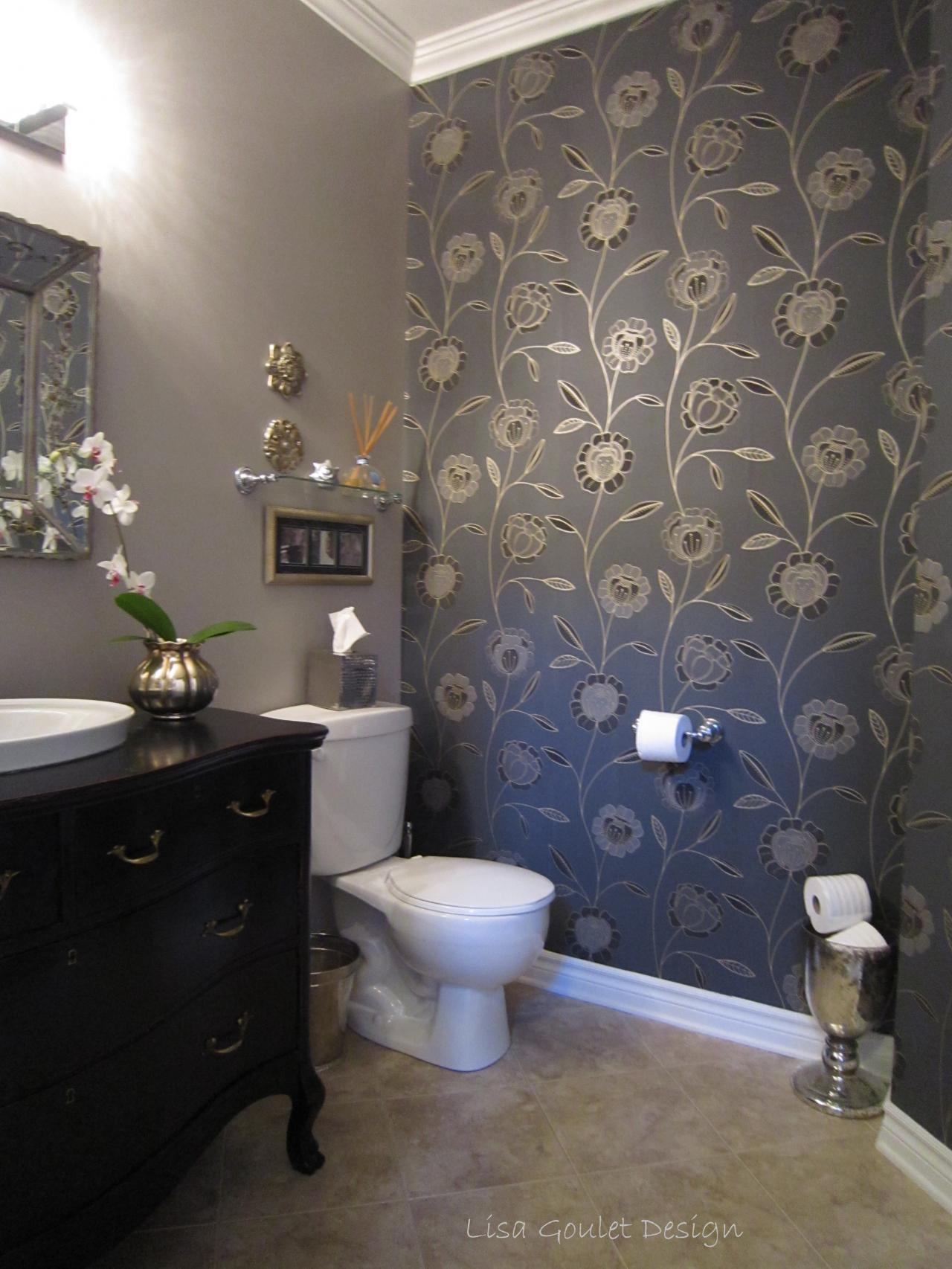 ideasfashionable powder room design ideas with glamorous wallpaper 1280x1706